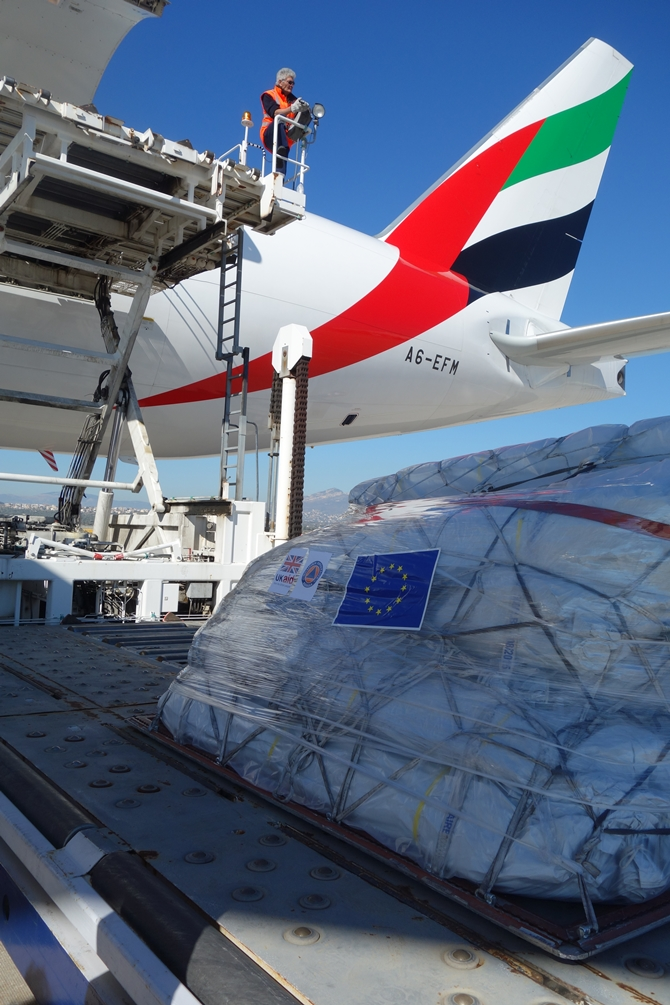 Cosmatos Shipping Services completed delivery of humanitarian aid