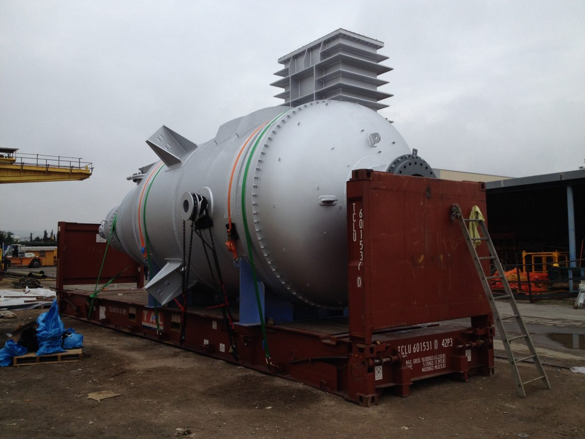 Delivery of decoke equipment from Thessaloniki Greece to Jubail in Saudi Arabia