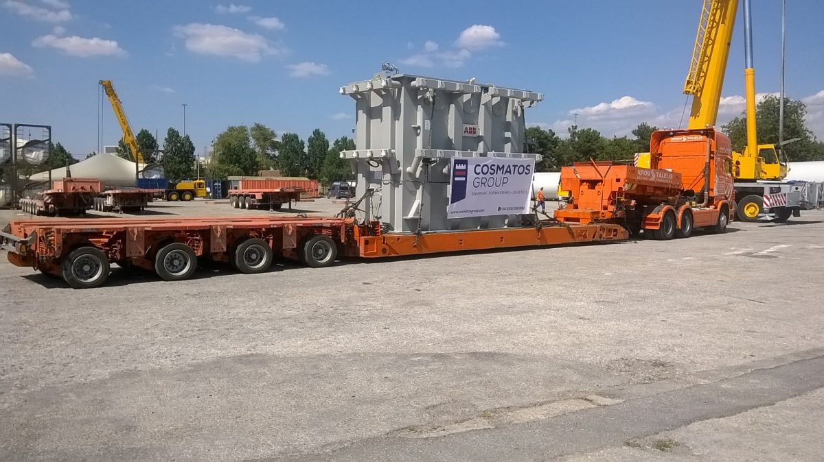 Delivery of transformer with auxiliary equipment from Istanbul, Turkey to Syros island, Greece
