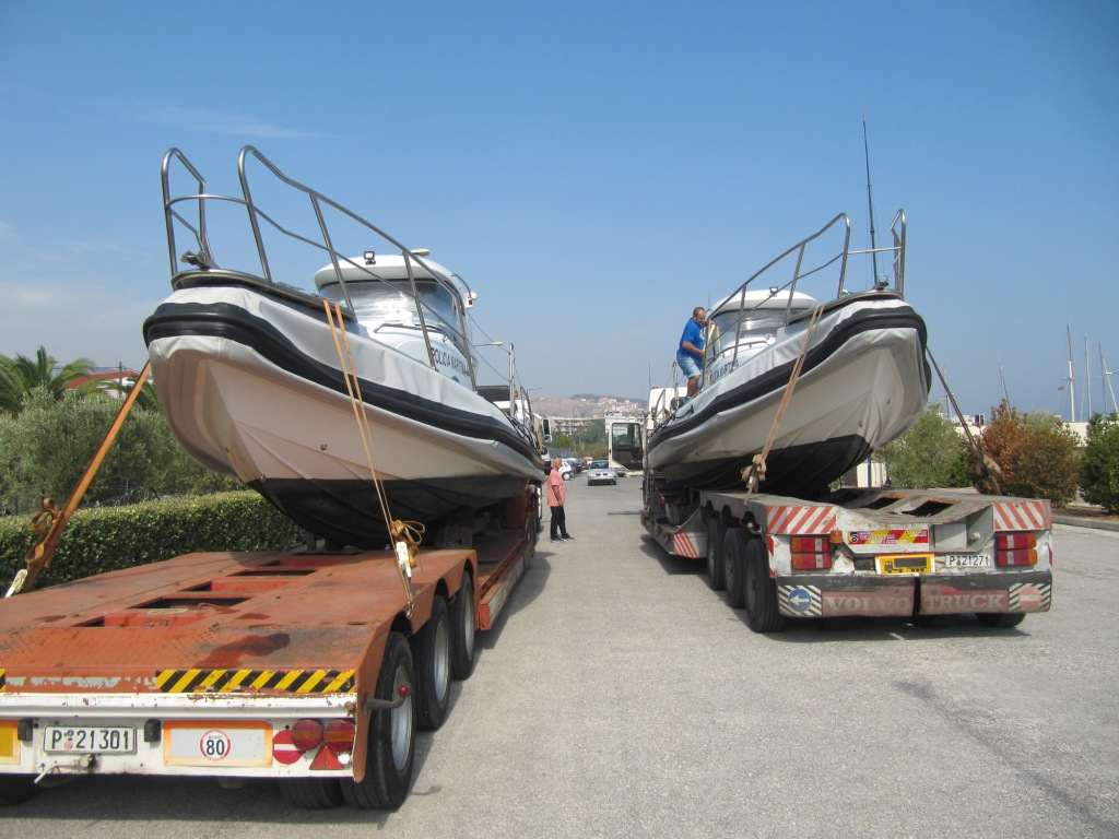 Delivery of military boats from Lesvos island, Greece, to Lisbon, Portugal