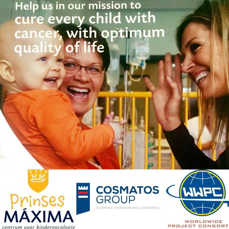 Cosmatos Group supporting Princess Máxima Center for pediatric oncology