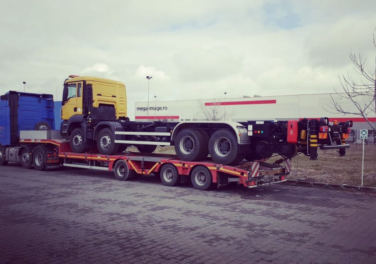 Rail road truck from Romania to Egypt